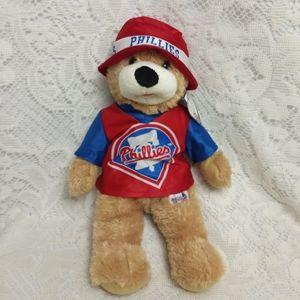 Phillies MLB Official Plush Teddy Bear Bucket Hat